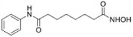 Chemical structure of Vorinostat (SAHA).