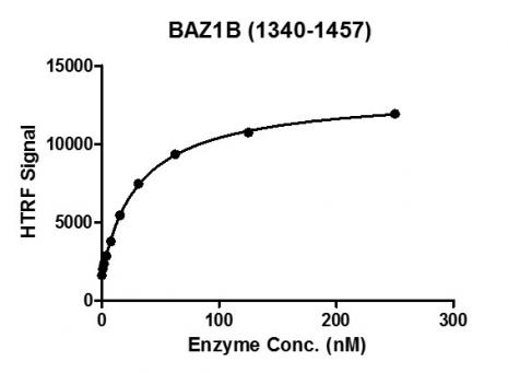 HTRF Assay for Recombinant BAZ1B (1340-1457) protein activity.