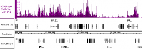 AbFlex<sup>®</sup> Histone H3K9me0 Antibody (rAb) tested by ChIP-Seq.